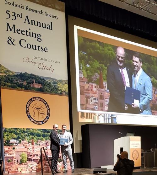 Prof. Negrini awarded at the SRS congress